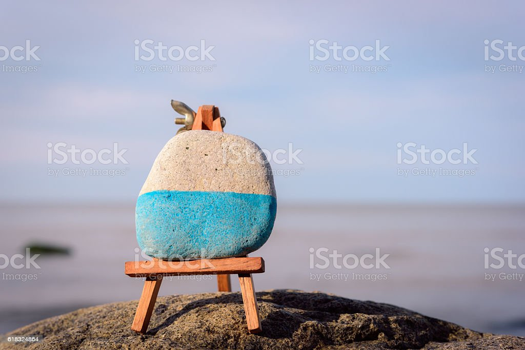Image of easel stock photo