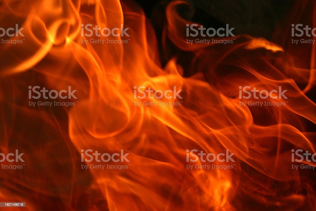 Image of fire on black background stock photo