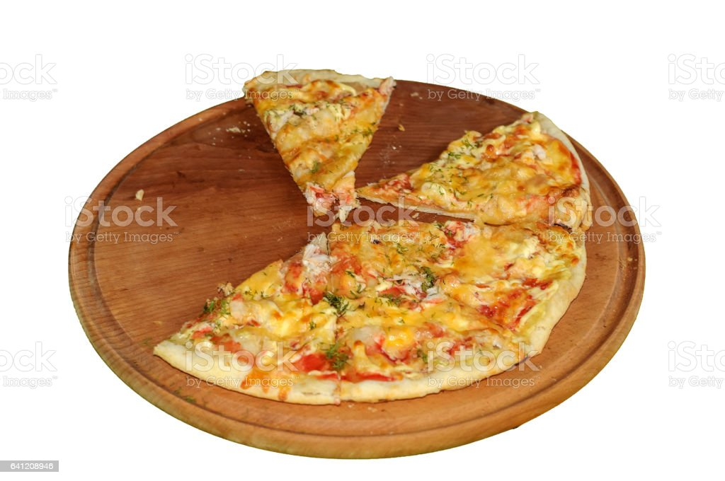 Image of fresh italian pizza isolated over white background stock photo
