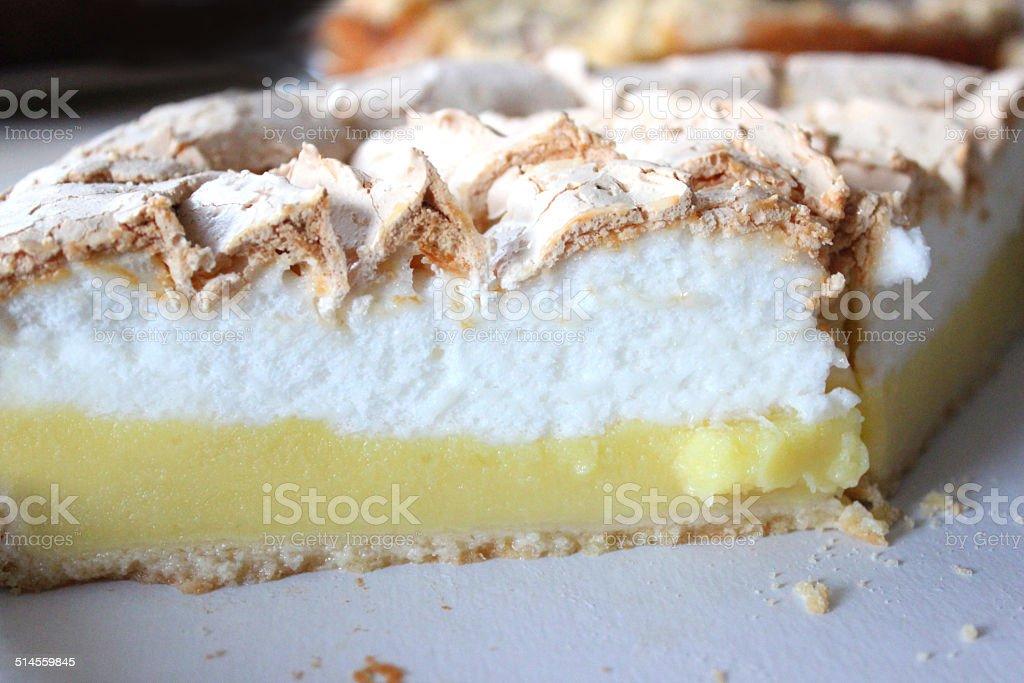Image of homemade cakes, lemon meringue pie, freshly baked desserts stock photo