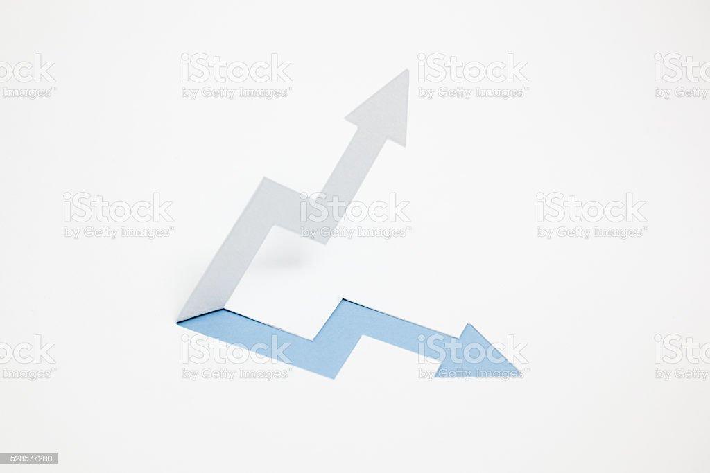 Image d'une augmentation de revenus, le rise (bleu) photo libre de droits