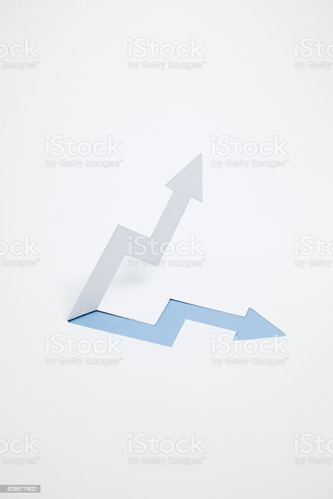 Image of increased income, the rise(Blue・verticality) stock photo