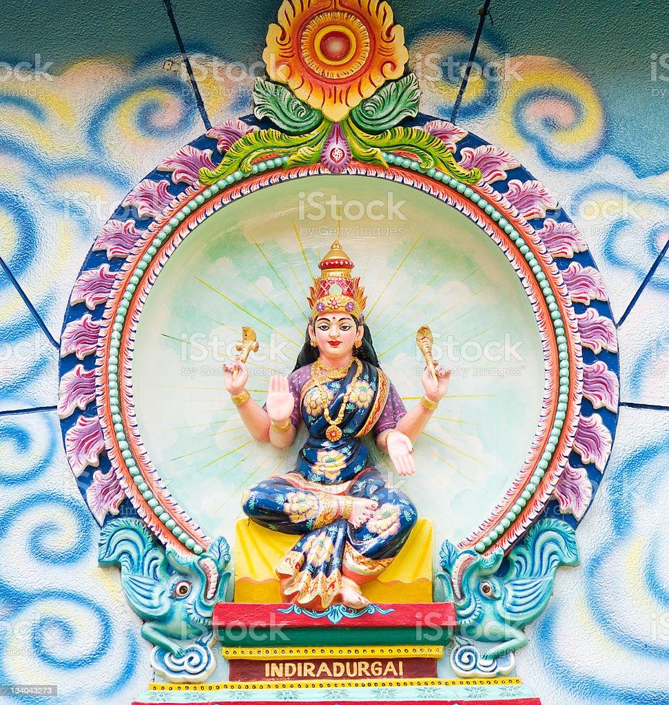 Image of Indiradurgai at Hindu temple royalty-free stock photo
