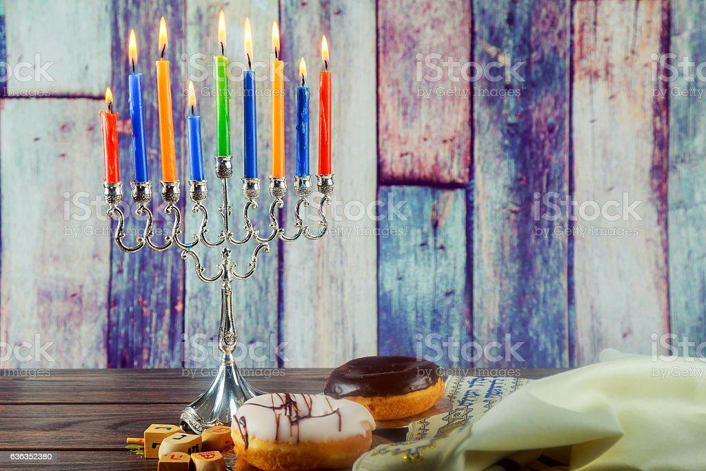 Jewish holiday Image of jewish holiday Hanukkah background with...