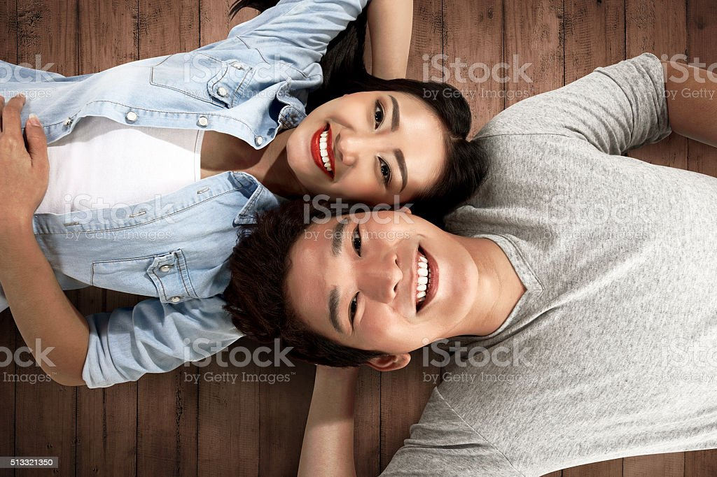 Image of lovely asian couple stock photo