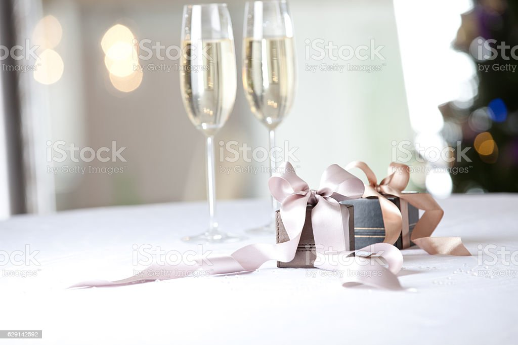 Image of luxury New Year gifts stock photo
