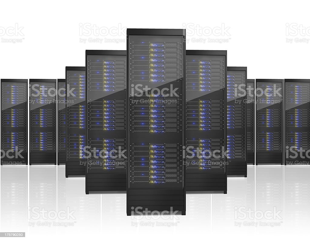 Image of many server racks royalty-free stock photo