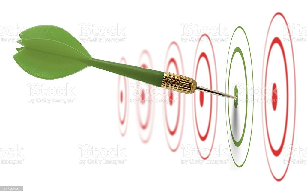 image of marketing and business success concept - hitting goal stock photo