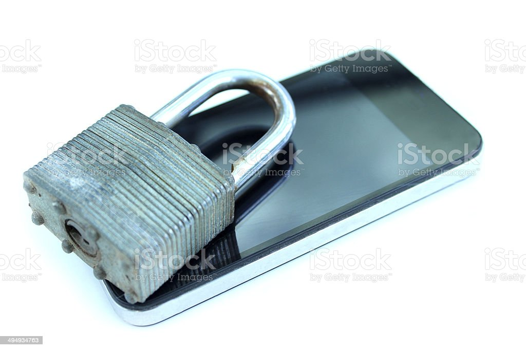 Isolated studio photo showing a modern mobile phone / smart phone...
