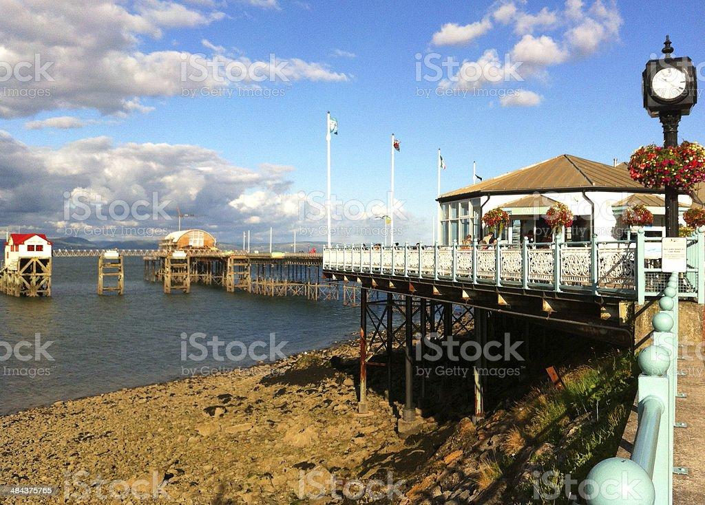 Image of Mumbles Pier, Swansea Bay, Wales, Uk stock photo