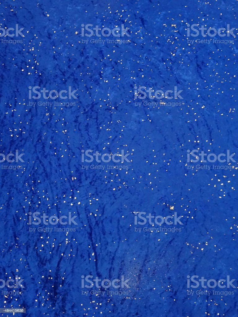 Image of night-time sky background / blue crushed-velvet and glitter stars stock photo