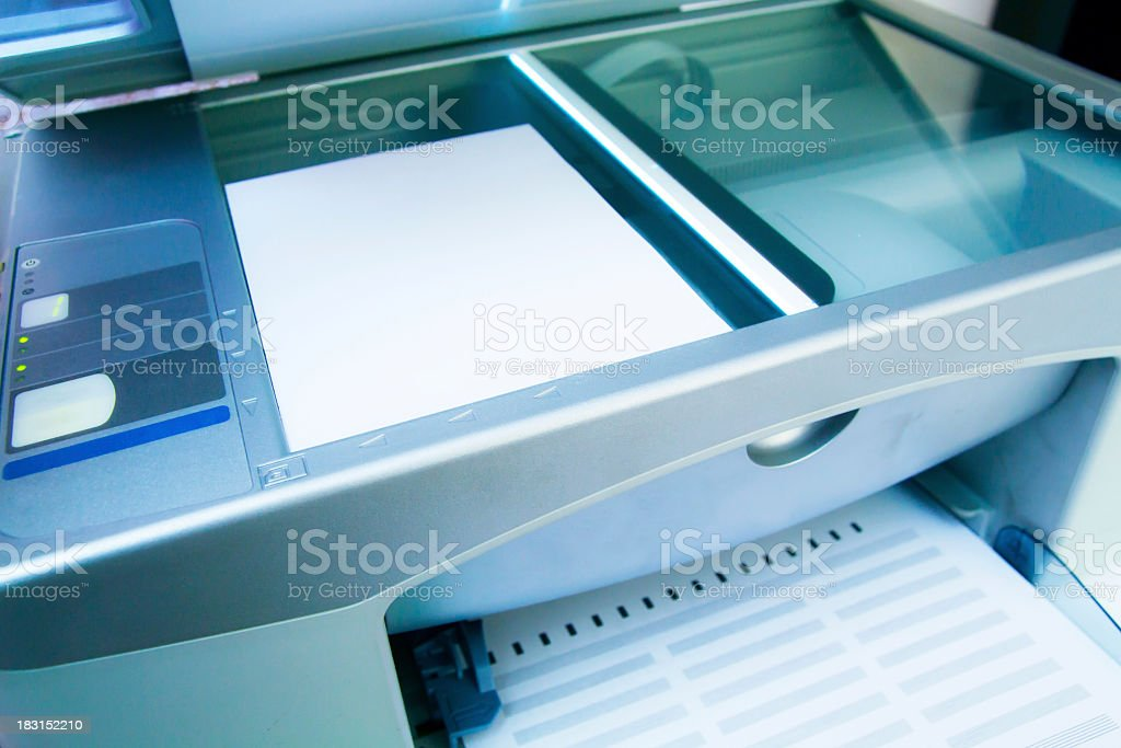 Image of office printer with multiple functions stock photo