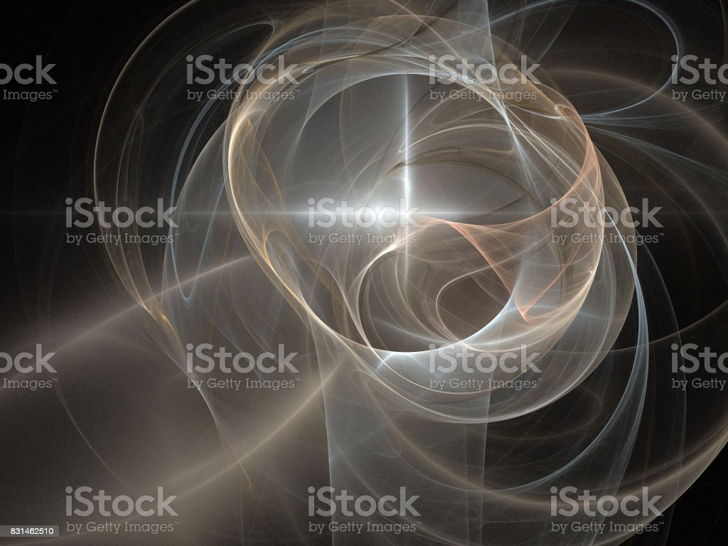 image of one Digital Fractal on Black Color stock photo