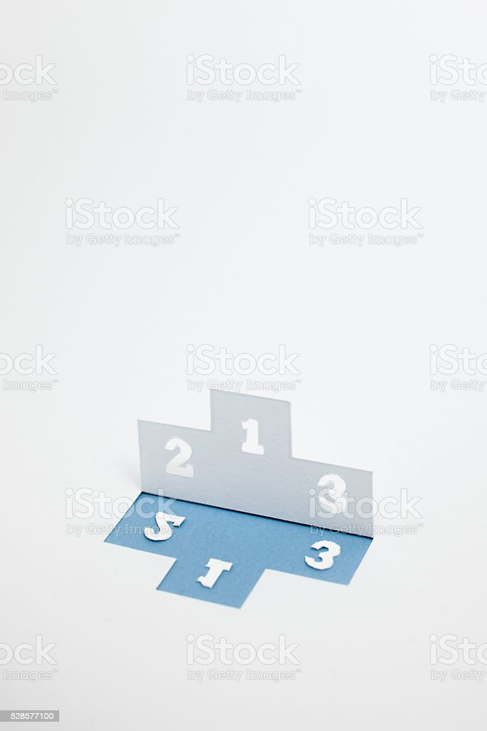 Image of order, the ranking(Blue・verticality) stock photo