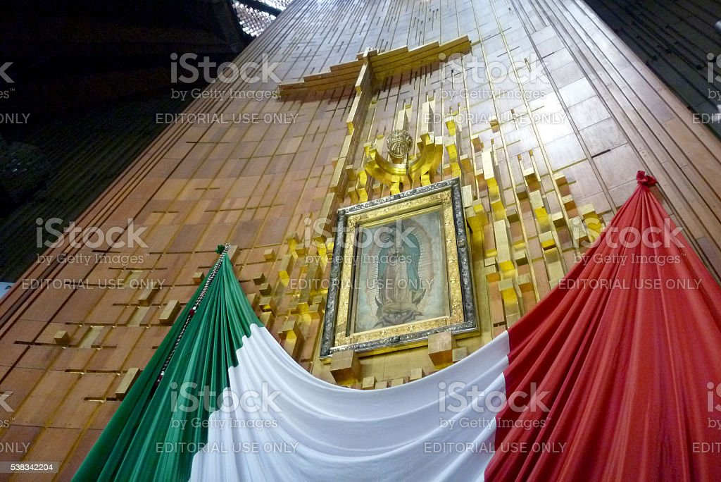 Image of Our Lady of Guadalupe in Mexico City stock photo