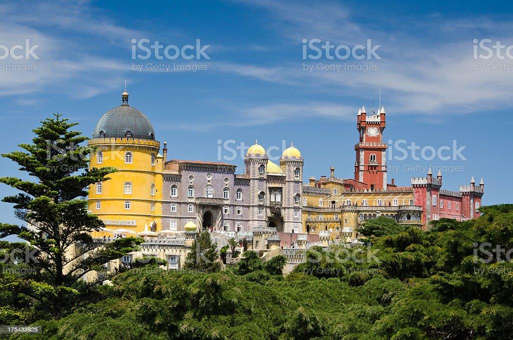Image of Palacio de Pena in Sintra, Portugalia stock photo