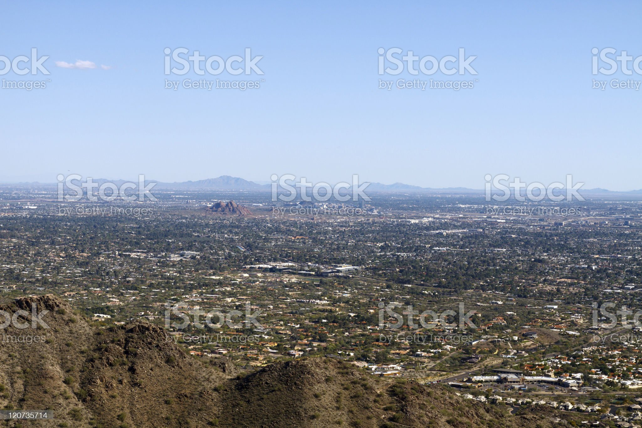 DSLR image of Phoenix Suburbs from above royalty-free stock photo