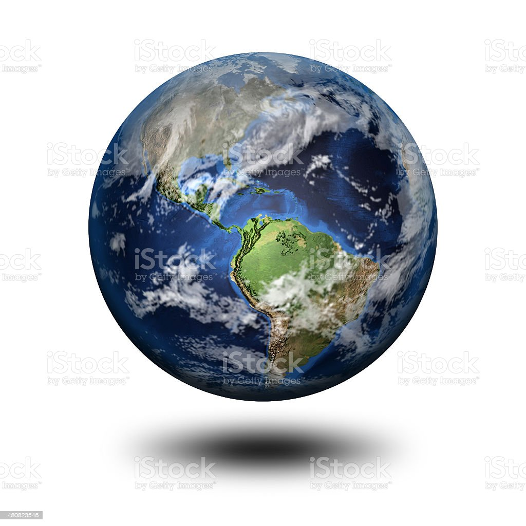 3D image of planet Earth stock photo