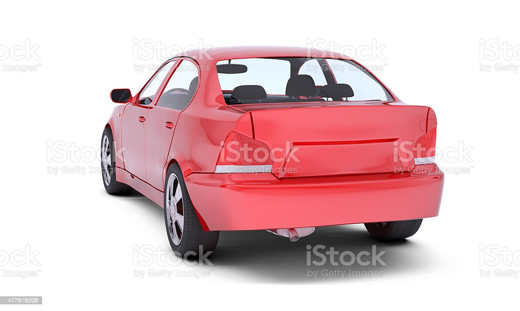Image of red car stock photo