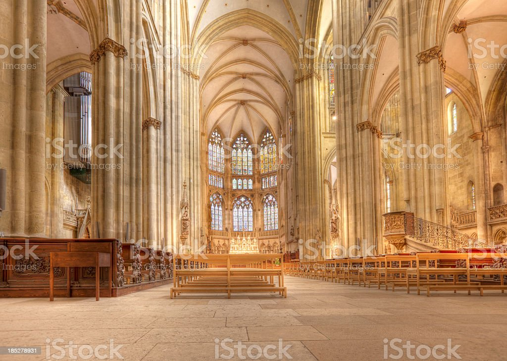 HDR image of Regensburg Cathedral royalty-free stock photo