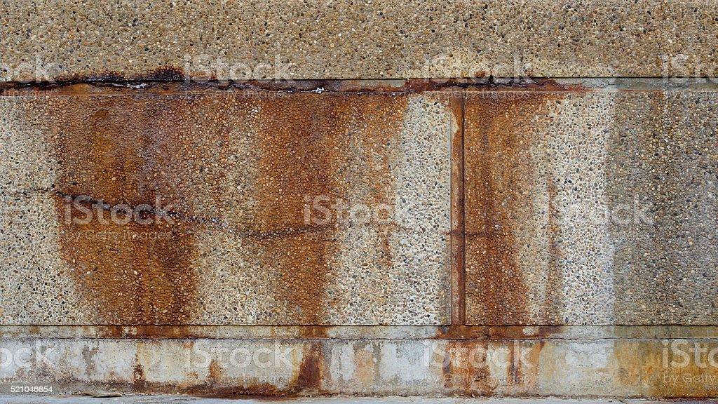 Image of rusty short fence. stock photo