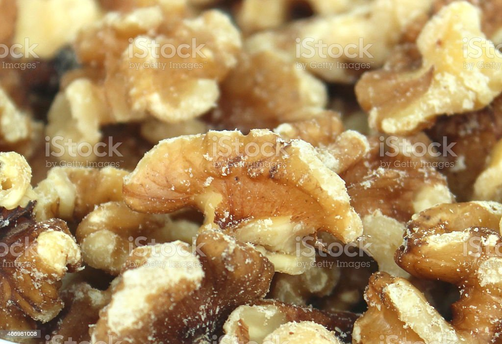 Image of shelled walnuts / nuts, healthy food snack, antioxidants, protein stock photo