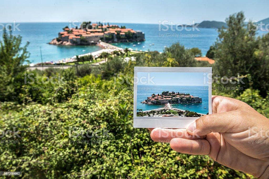Image of St Stefan, Budva, Montenegro stock photo