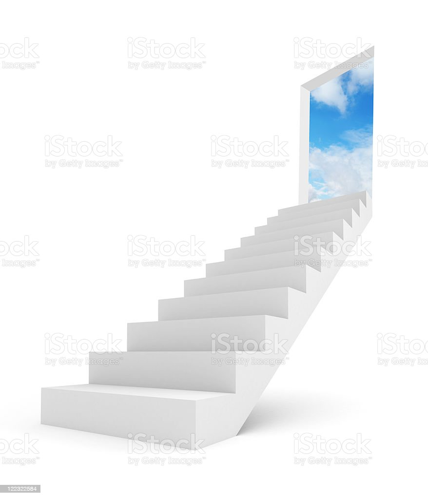 Image of stairway to the top royalty-free stock photo