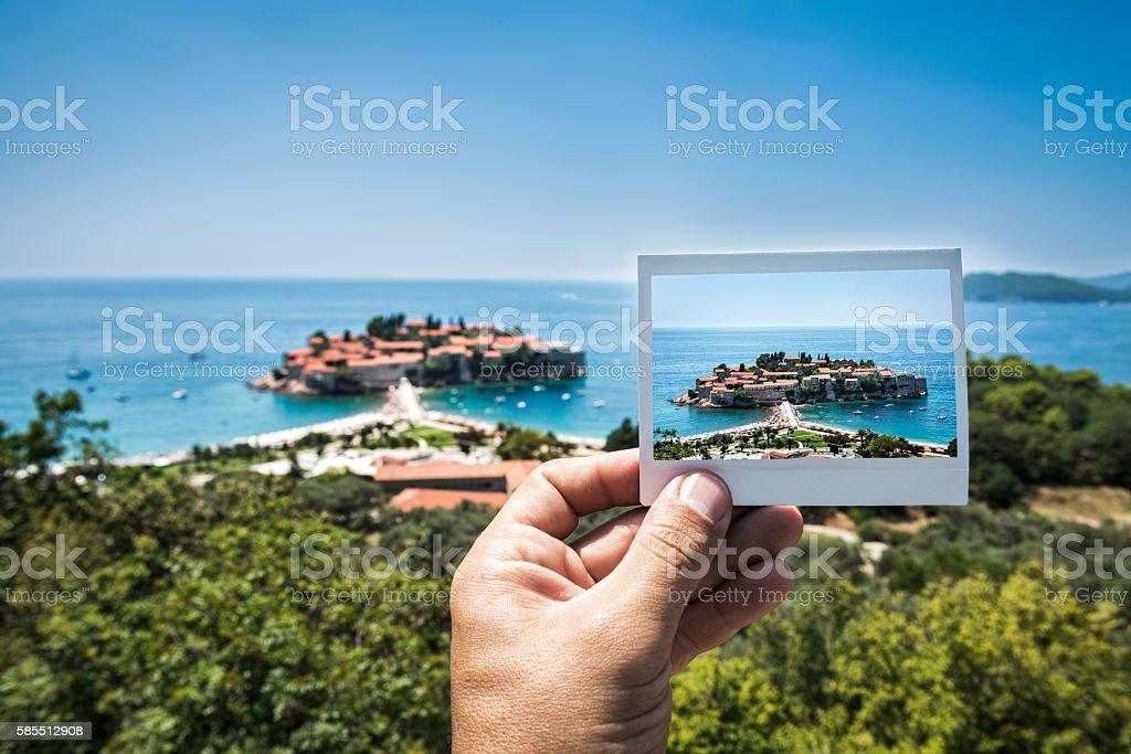 Image of Sveti Stefan, Budva, Montenegro stock photo