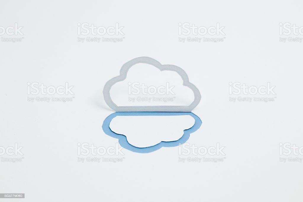 Image du cloud (B type, horizontale, photographie, Bleu photo libre de droits