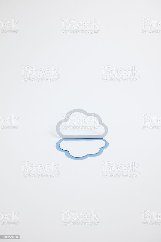 Image du cloud (B type photographie, verticale, Bleu photo libre de droits