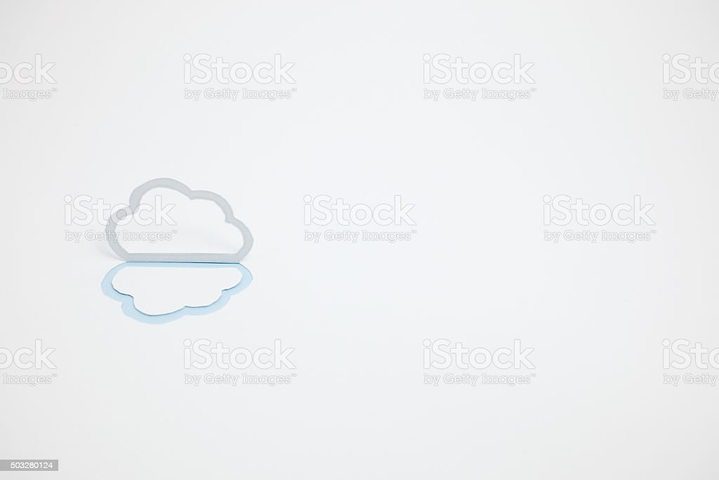 Image du cloud (B type, horizontale, photographie, Bleu clair photo libre de droits