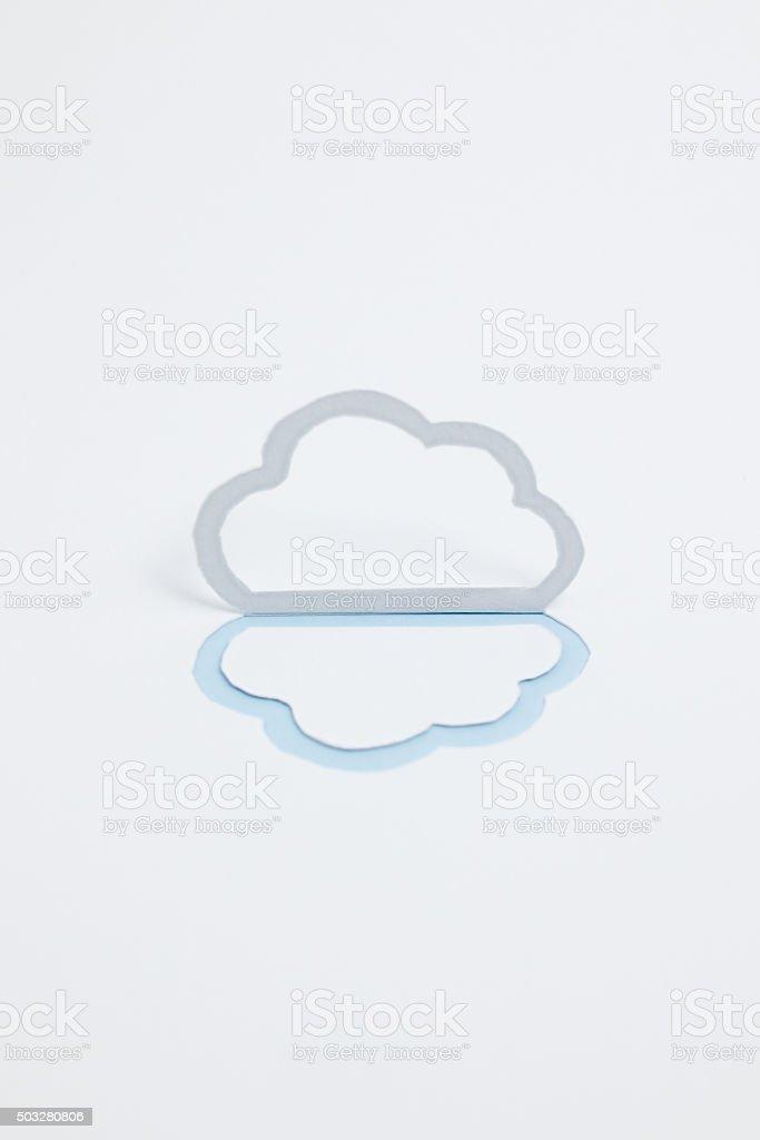 Image du cloud (B type photographie, verticale, Bleu clair photo libre de droits