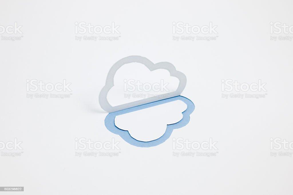 Image du cloud (un type, horizontale, photographie, Bleu photo libre de droits