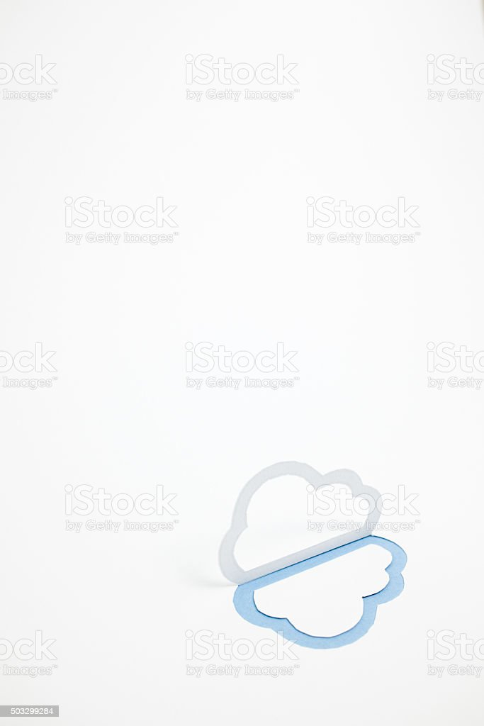 Image du cloud (un type, vertical photo, Bleu photo libre de droits