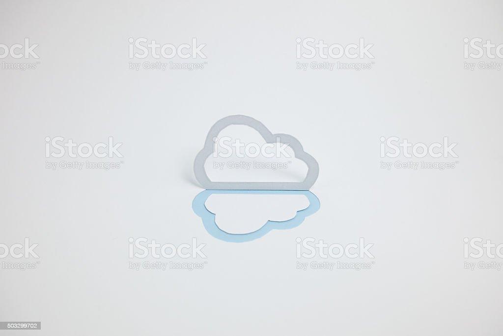 Image du cloud (un type, horizontale, photographie, Bleu clair photo libre de droits