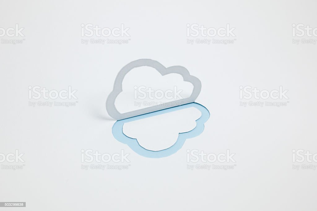 Image du cloud (un type, horizontale, photographie, Bleu clair photo libre de droits