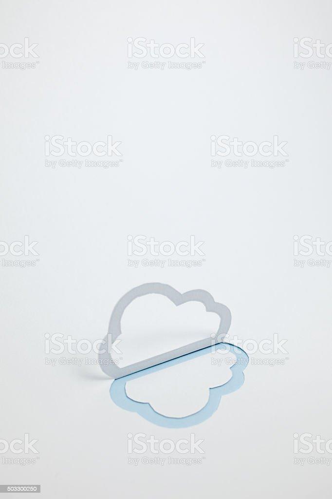 Image du cloud (un type, vertical photo, Bleu clair photo libre de droits