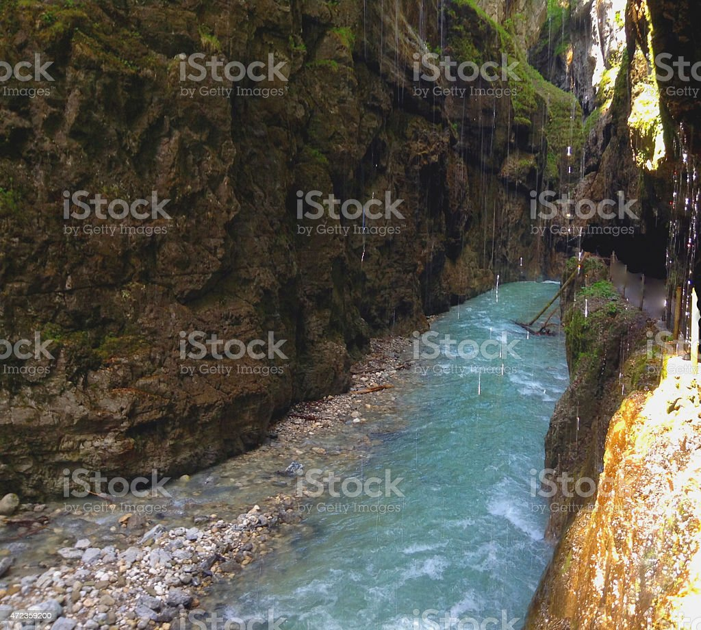 Image of the Partnach Gorge stock photo
