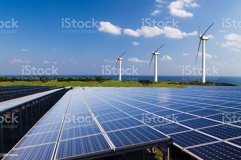Image of the renewable energy stock photo