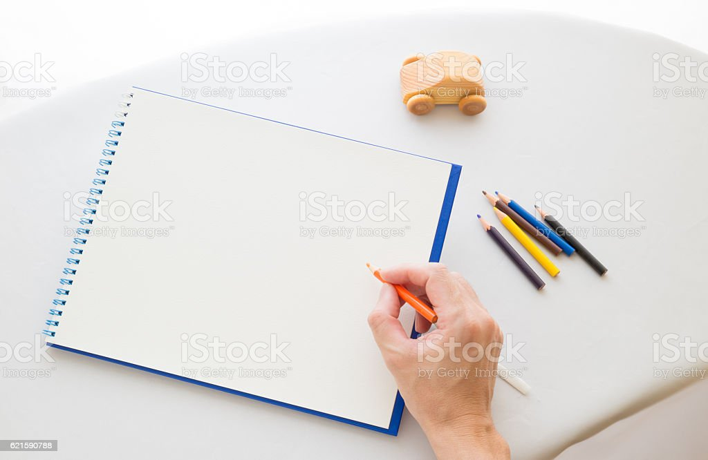 Image of the sketching stock photo