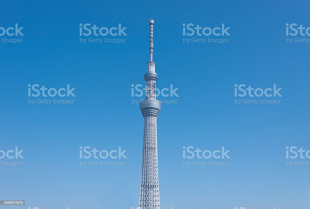 Image of the Tokyo sky tree . stock photo