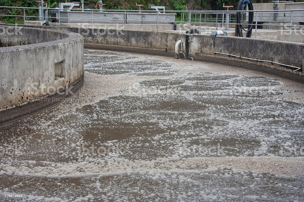 Image of the water at a sewage treatment facility royalty-free stock photo