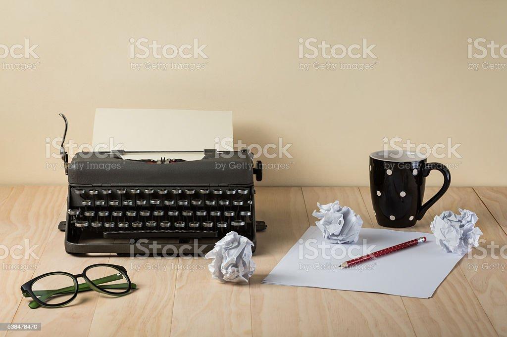 Image of vintage typewriter stock photo