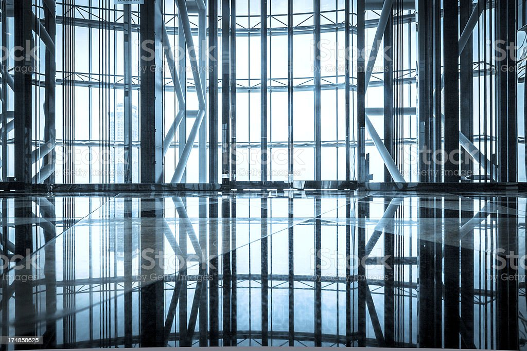 image of windows in modern office building royalty-free stock photo