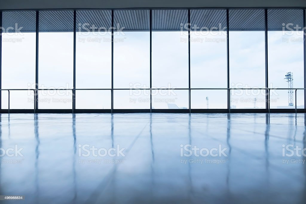 image of windows in morden office building stock photo