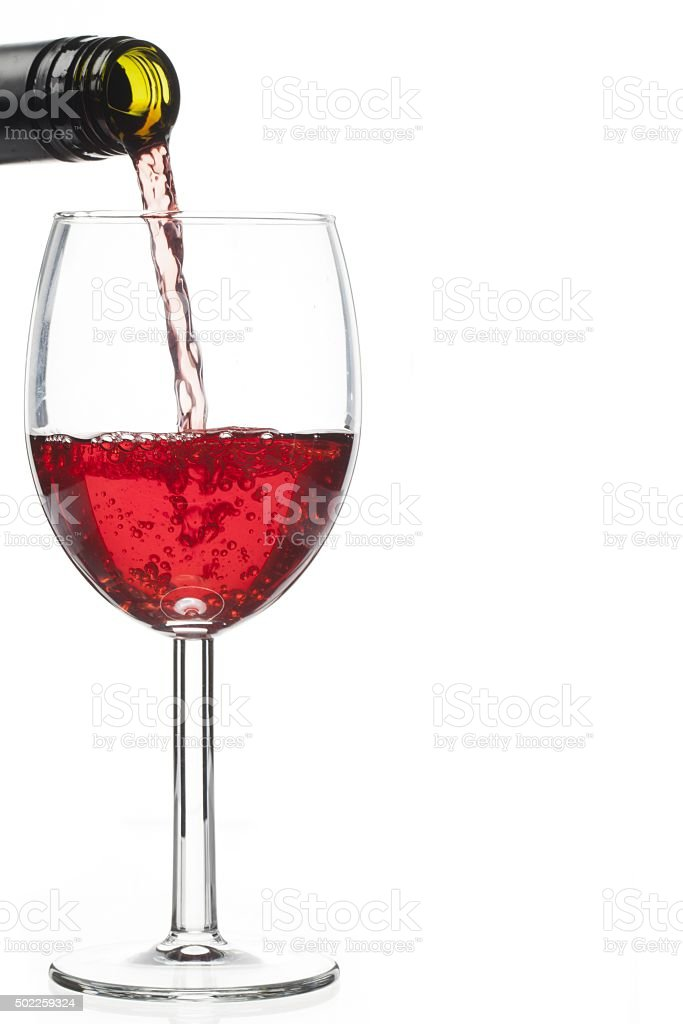image of wine bottle and wine glass stock photo