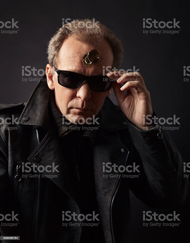 image on the theme of studying the thoughts of others stock photo