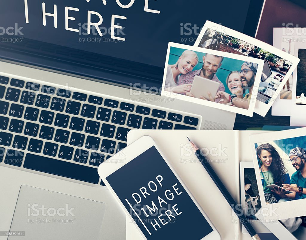 Image Photo Advertisement Marketing Commercial Concept stock photo