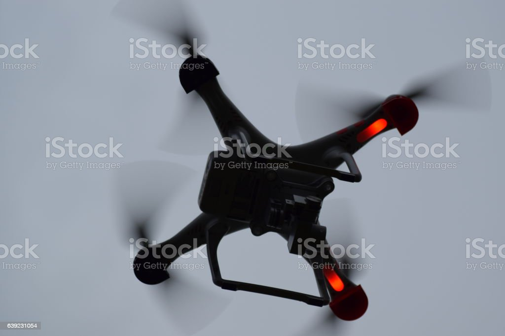 Image taken of a drone stock photo